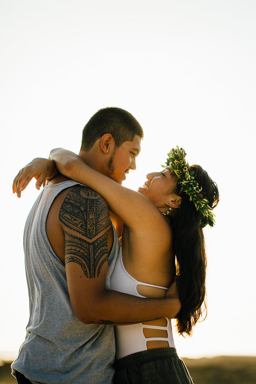 Big Island Sunset Engagement Portraits