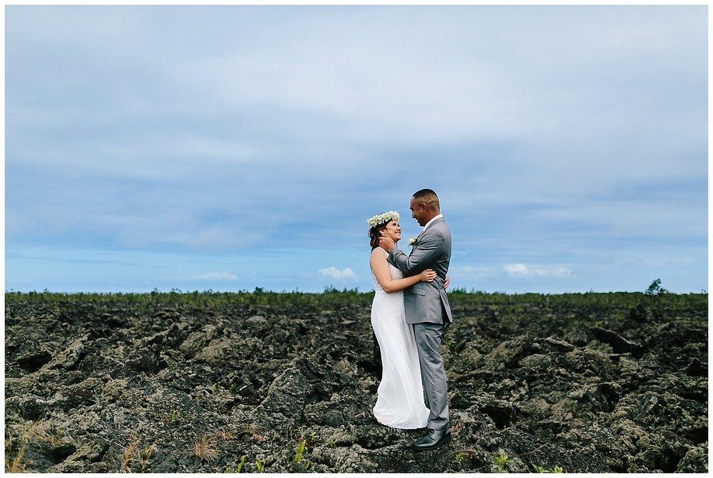 Lava field wedding