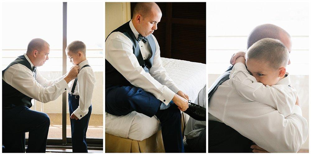 Father son wedding photos