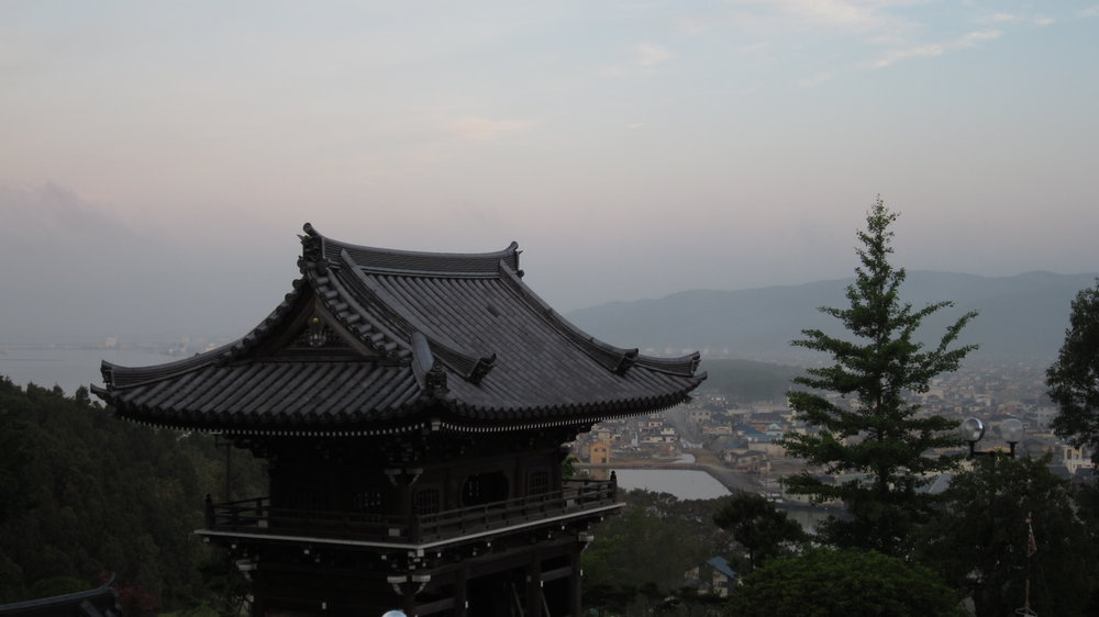 View from Dougen'in Temple down into destroyed portions of Ishinomaki