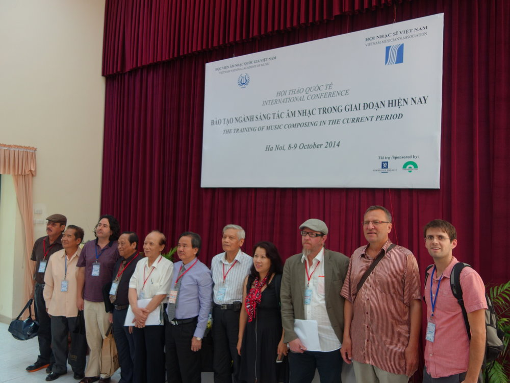 Room for discussion. An international panel covered a variety of topics ranging from non-linear composition in video games to the selection of musicians who will be allowed to study in Vietnamese conservatories.
