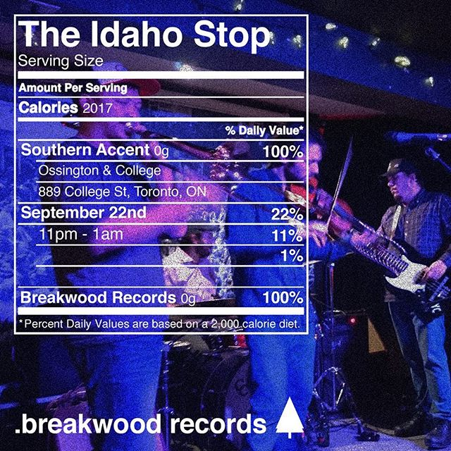 Come see The Idaho Stop live at Southern Accent on Sept 21st at 11pm.