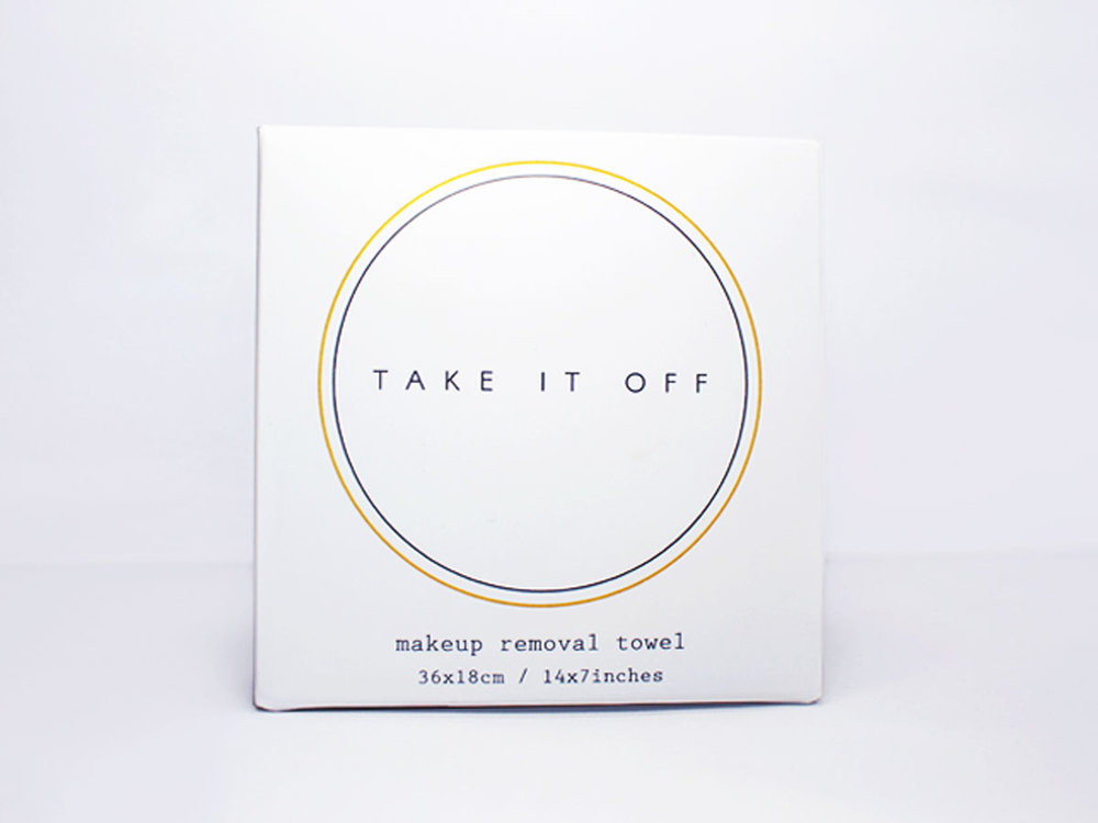 Take It Off makeup removal towel  All it needs is warm water to remove even the toughest makeup. A super soft and eco-friendly, reusable product perfect for sensitive skin.