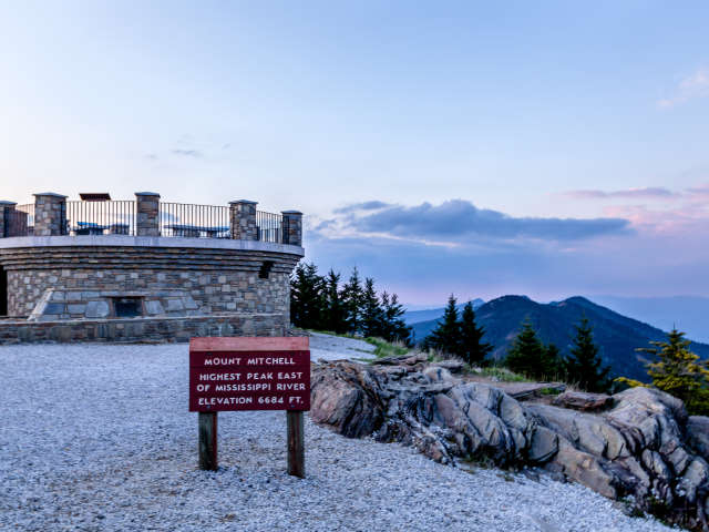 Mt Mitchell - Home of the highest, oldest peaks
