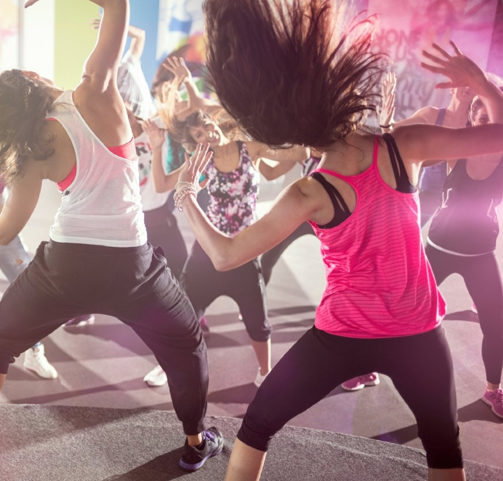 ZUMBA   Get ready for a 60 minutes dance party! Zumba is pretty much the most awesome workout ever. Dance to great music, with great people, and burn a ton of calories without even realizing it. No dance experience required - this class is for everyone! Get ready to sweat!