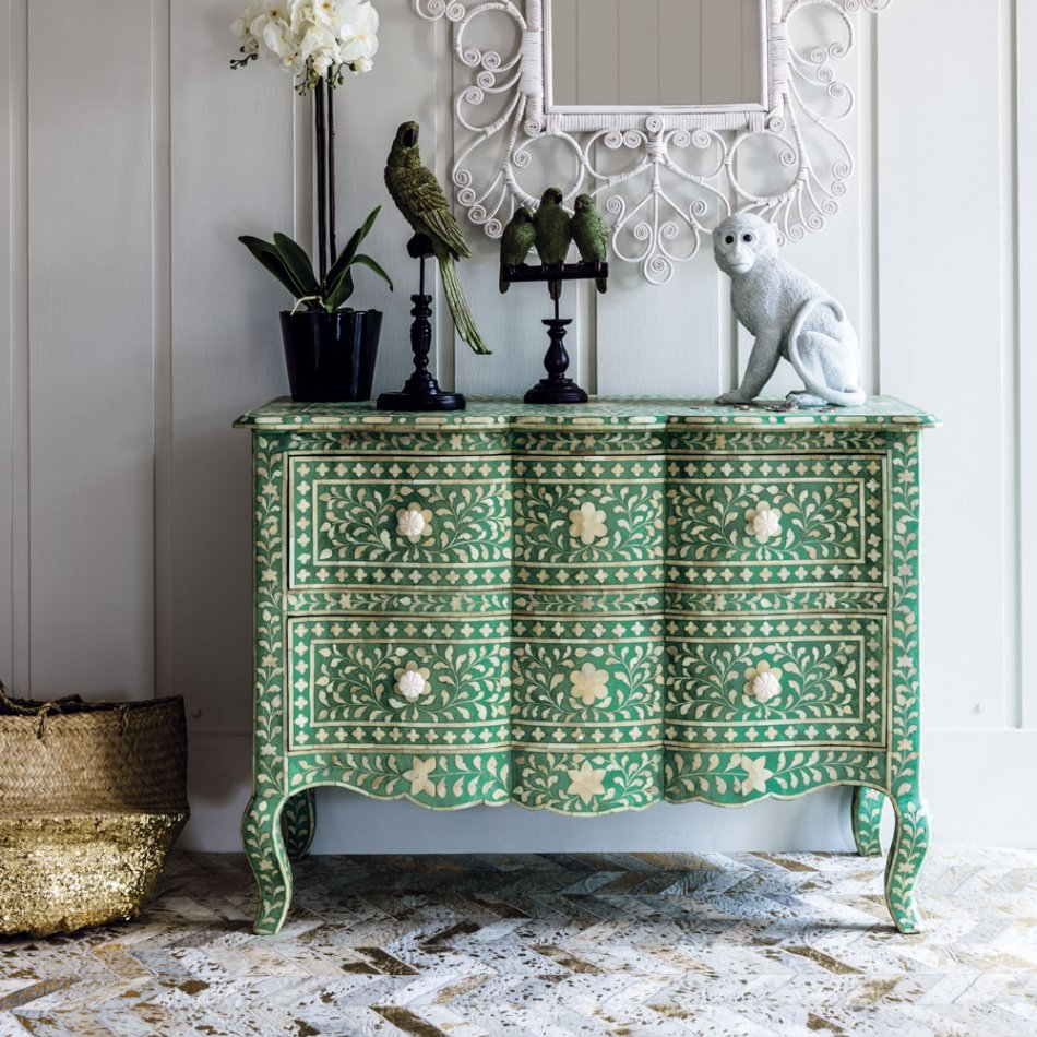 antonia bone inlay chest  - Graham & Green