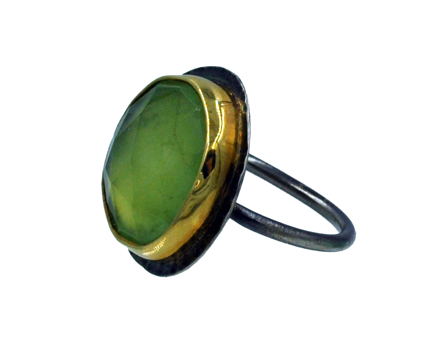 Prehnite Rocker Ring -