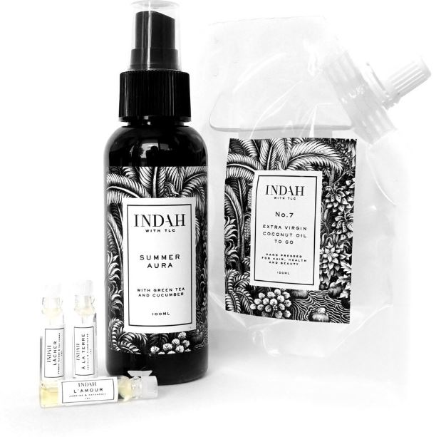 Indah Summer Skin Set - $50                                                   Everything to soften and scent moms skin