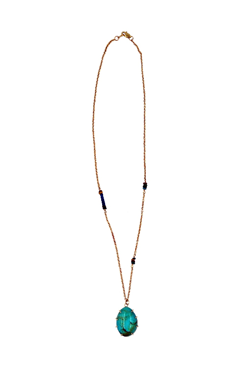 Pua Turquoise Luck Necklace - $380                        The perfect necklace to sparkle against sun tanned skin