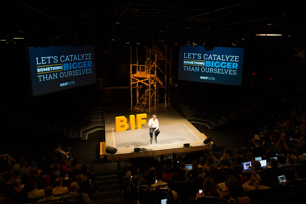 Saul Kaplan  Starting Day 2 of  BIF  - Photo by  Stephanie Alvarez Ewens