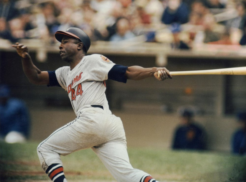 Hank Aaron ~ All time MLB RBI Hitter (2,297) Picture Credit USBData