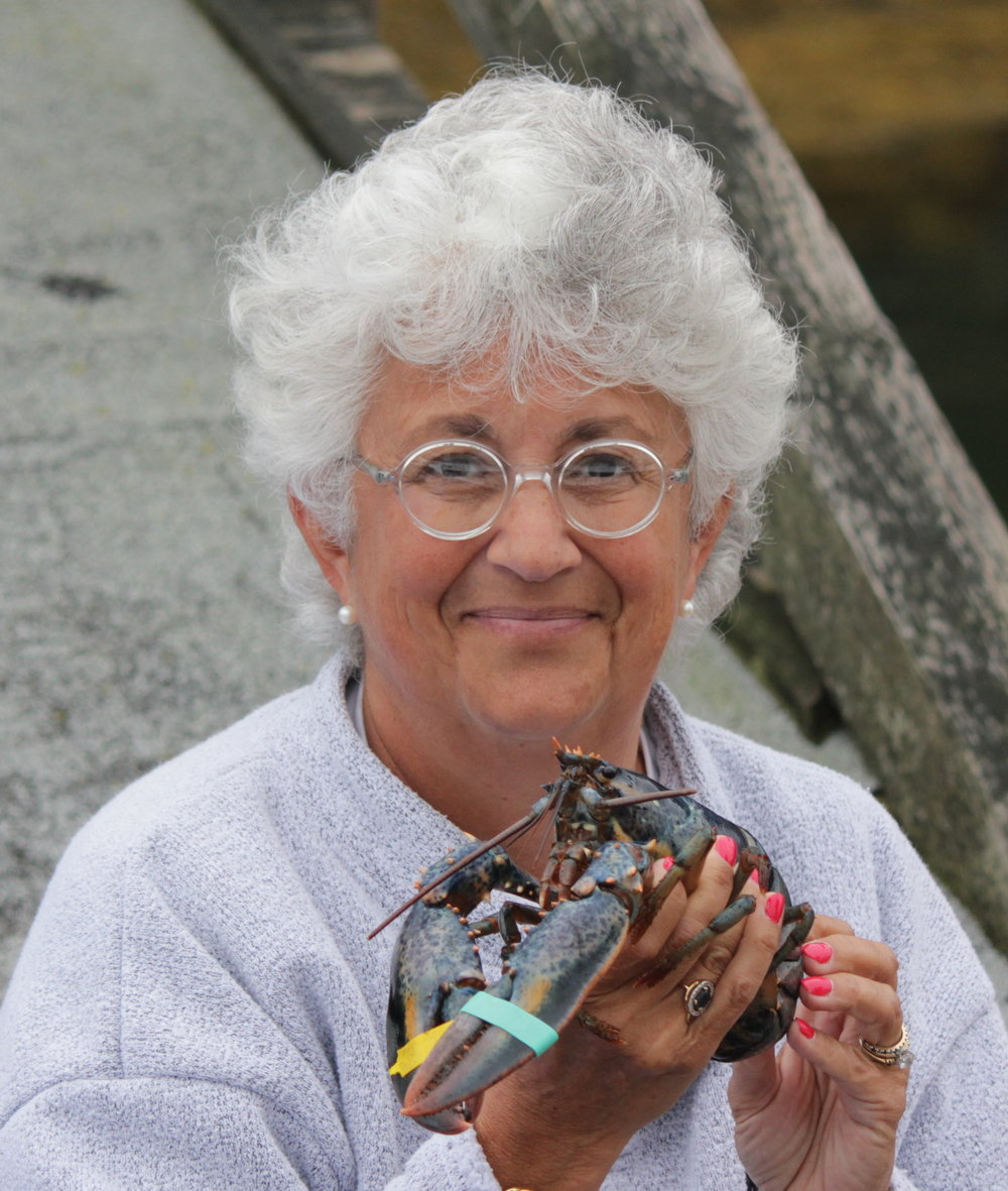 Deb Mills-Scofield with Blue Lobster.jpg