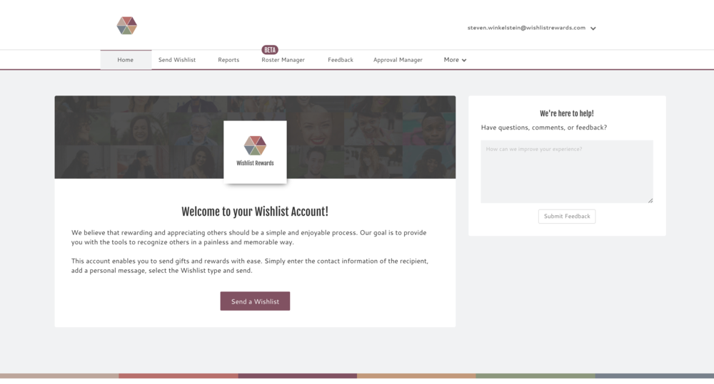 Pictured above is a screenshot of the old admin portal.