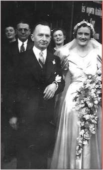 Jim and Mabel Balding on their wedding day 21 August 1943