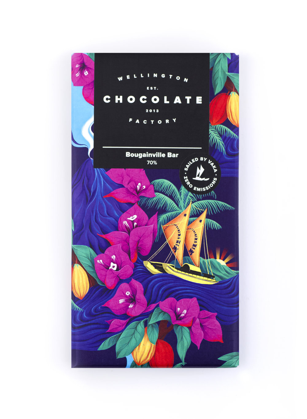 BougainvilleChocolate Bar - Zero emission chocolate made with single origin cacao sailed by vaka from Bougainville.