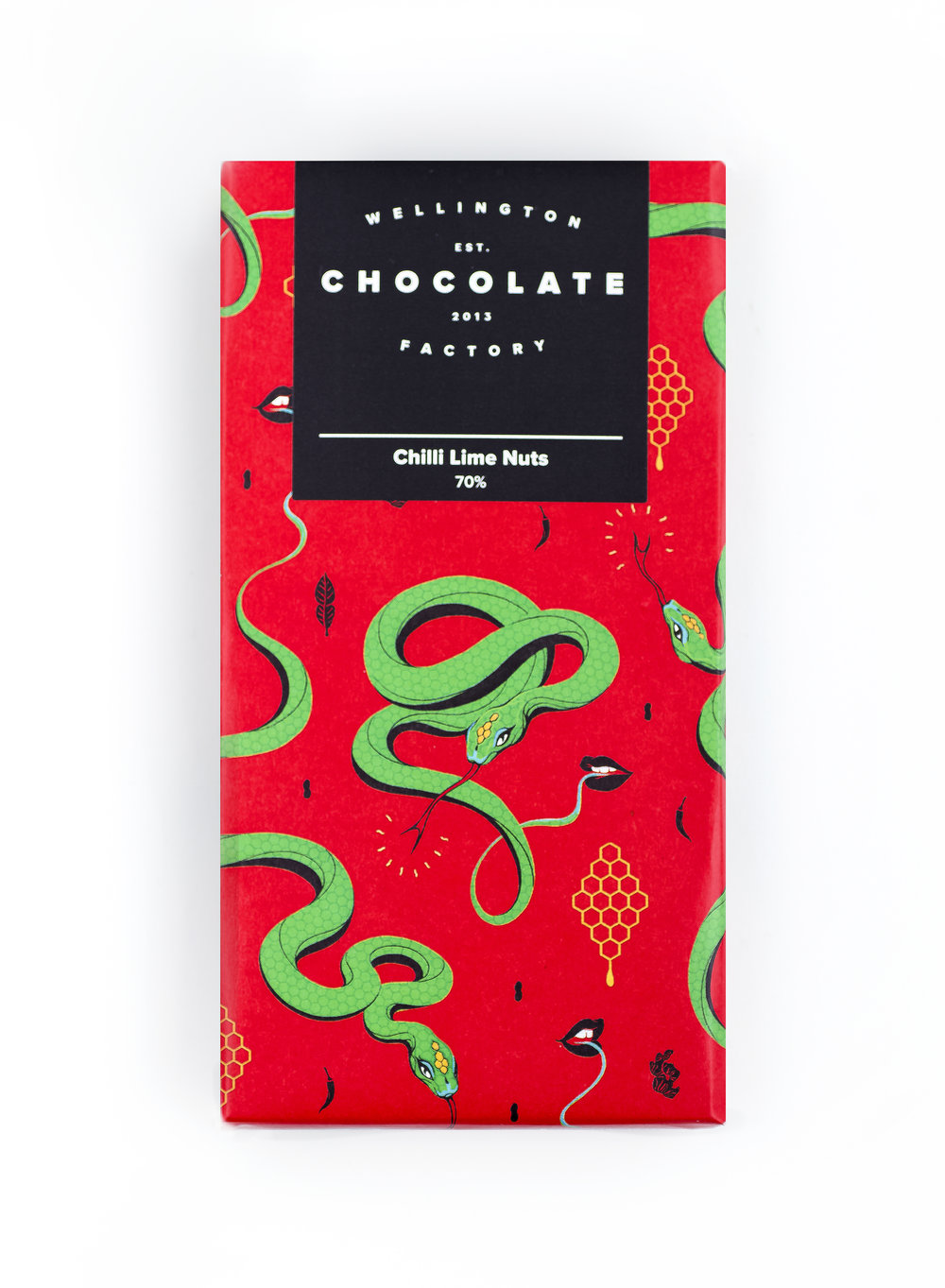 Chilli Peanuts Chocolate Bar - Our special house blended chocolate combined with fiery and zesty seasoned peanuts.