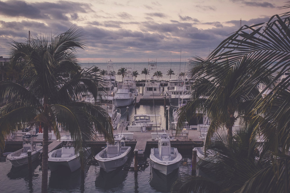 View of the marina from our balcony at Ocean's Edge