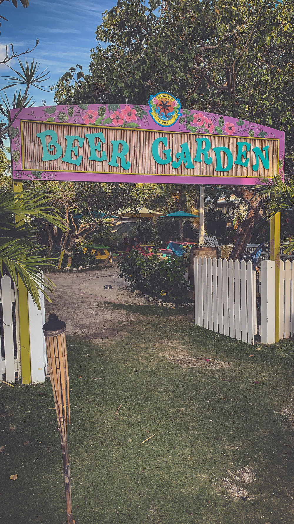 The cutest beer garden at Florida Keys Brewing Co.