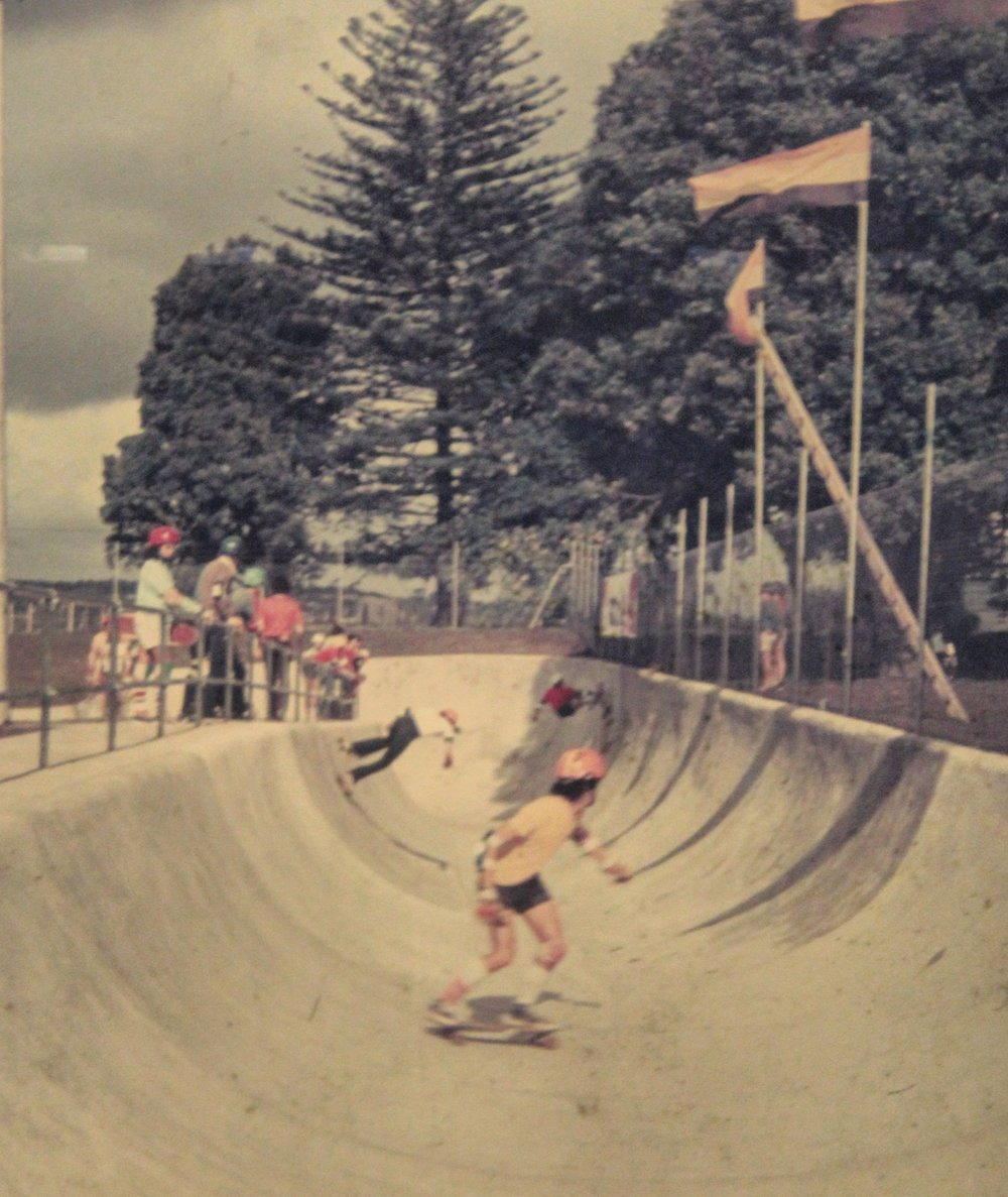 Skatopia, where Rainbows End is now. Photo taken by Kevin Rawnsley in the 70's.