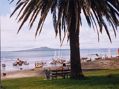 Takapuna Beach, 1999. Image credit: Angela Te Wiata.
