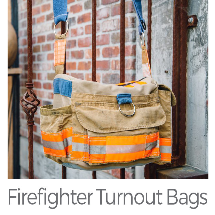 Firefighter Turnout Bags upcycled bags
