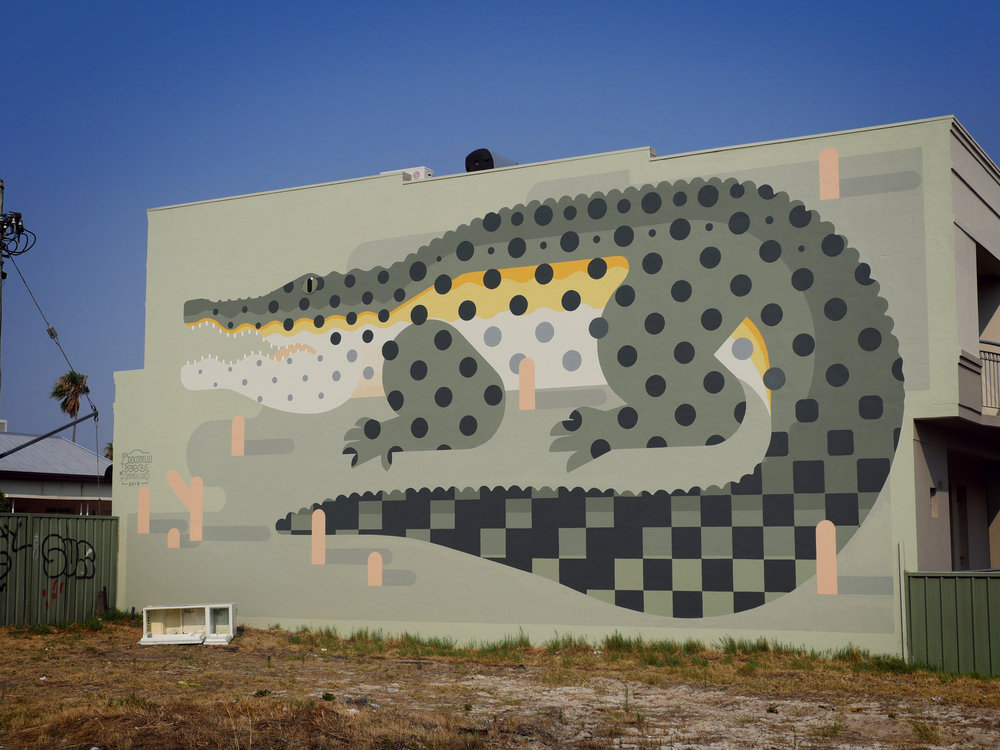 Perth, WA Australia 2015. 'Crocodylus porosus' Commissioned by Abode Consulting
