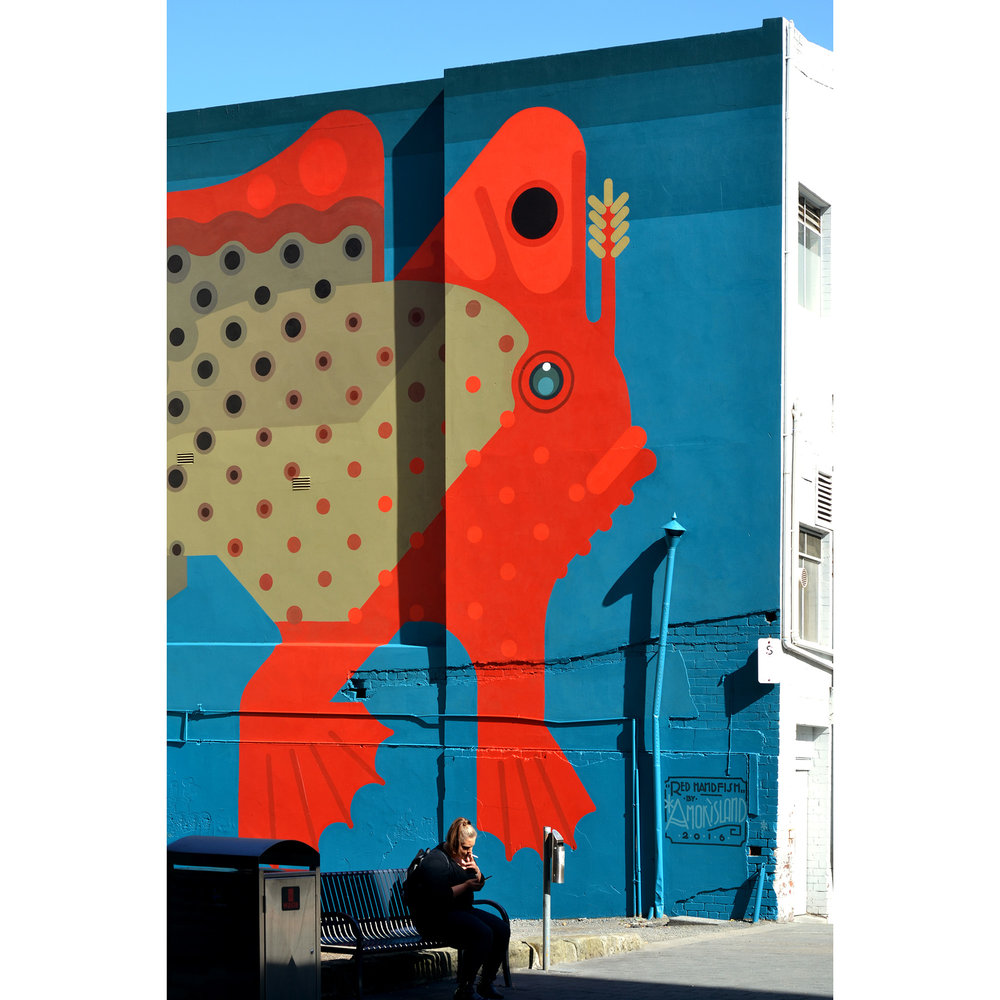 Hobart, Tasmania 2016. 'Red Handfish' Commissioned by City of Hobart