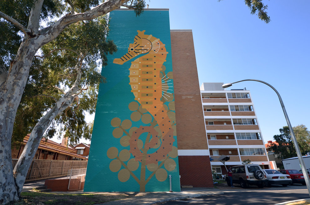 Fremantle, Western Australia 2014. 'Hippocampus subelongatus' Commissioned by FORM / 100 Hampton Road