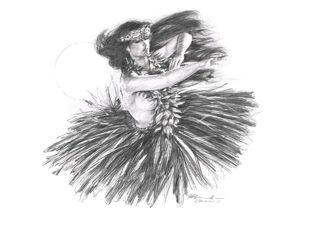 """ HULA SERIES"" PENCIL ON PAPER"