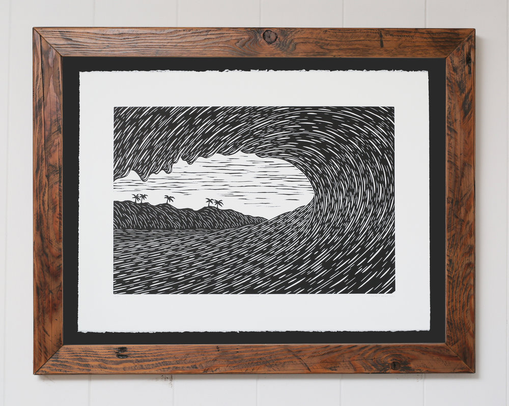 """Influx"" Original Woodcut"