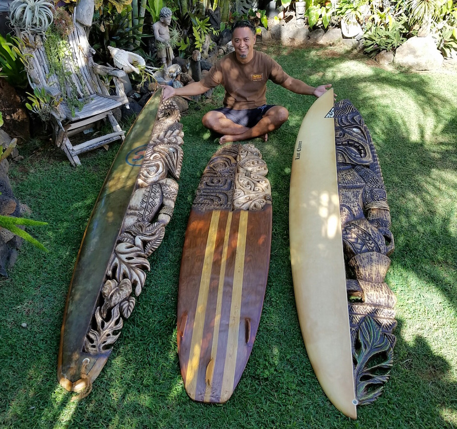 Surfboard Art and Carvings