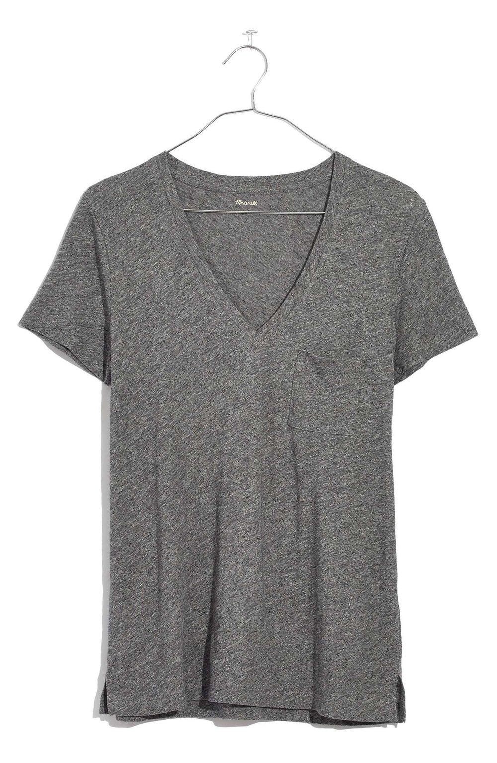 MADEWELL Cotton V-Neck