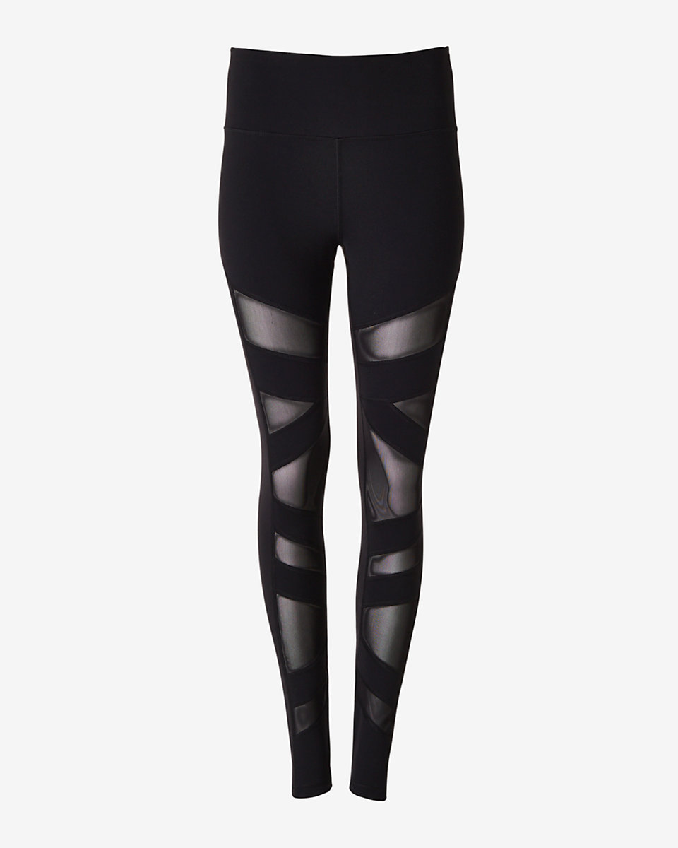 EXPRESS CORE MESH HIGH WAISTED LEGGINGS