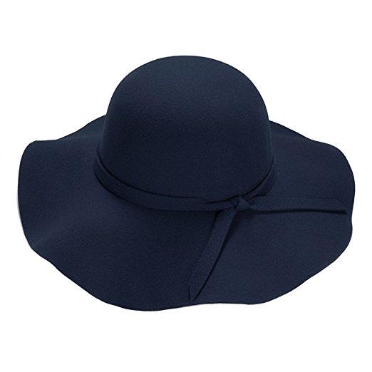 Navy floppy hat