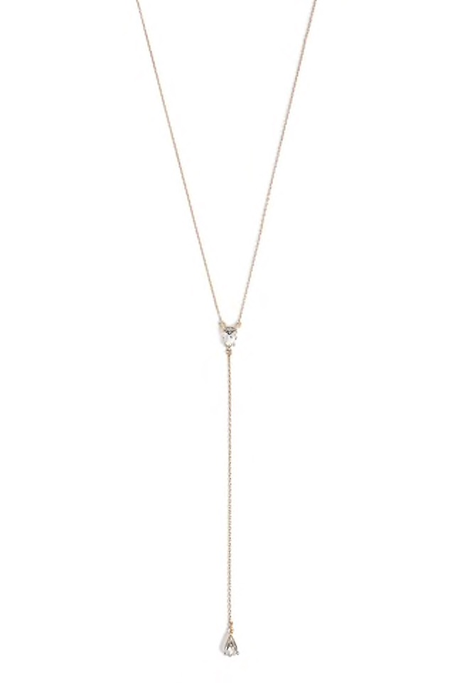 F21 Gem Drop Necklace