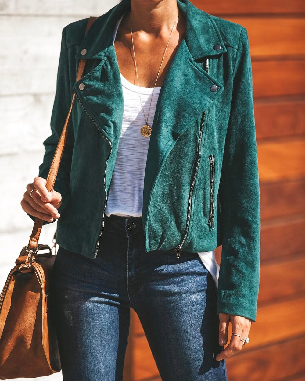 Vici Dolls Green suede Jacket
