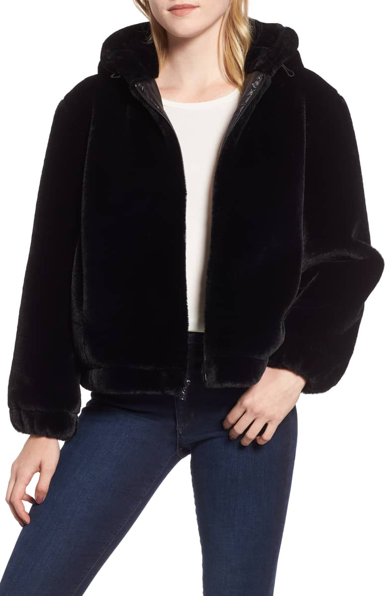Marc New York Faux Fur Bomber