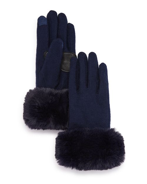 Echo Faux Fur Tech Gloves