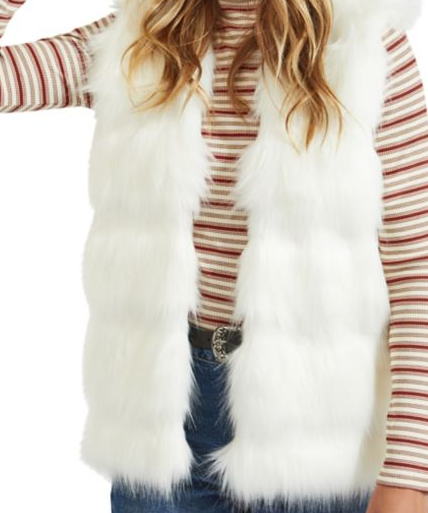 Miss Selfidge Classic Faux Fur Vest