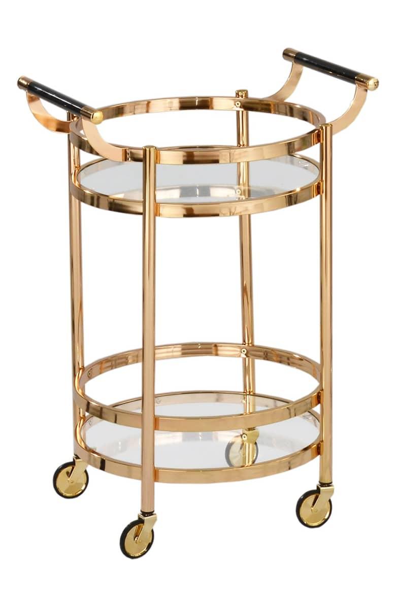American Atelier Wheeled Bar Cart