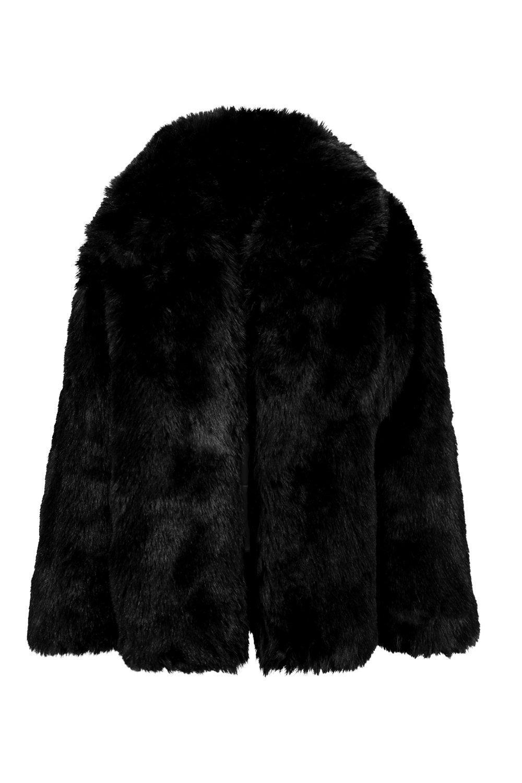 Boohoo Collared Faux Fur Coat
