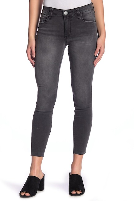 Gray High Waisted Jeans