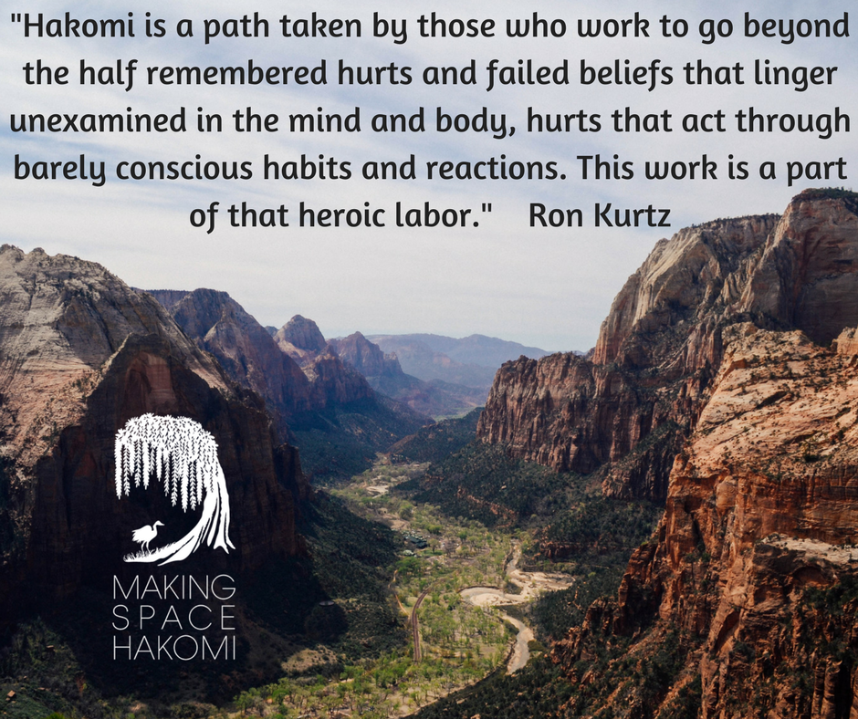 Hakomi is a path taken by those who work to go beyond the half remembered hurts and failed beliefs that linger unexamined in the mind and body, hurts that act through barely conscious habits and reactions. This work .png