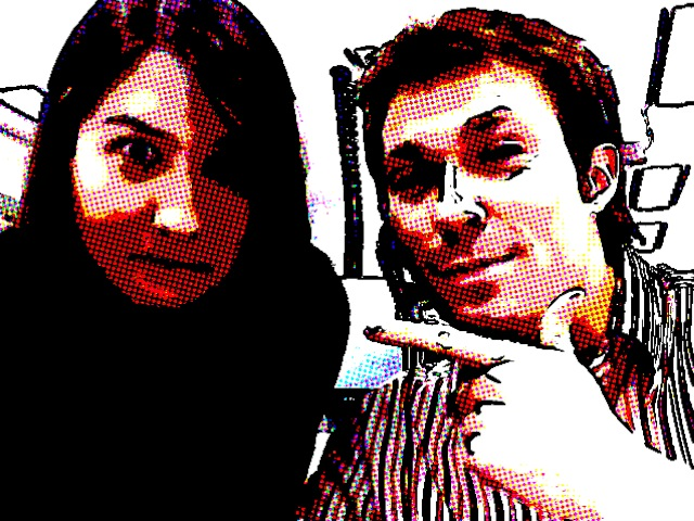 Me and Keira at work