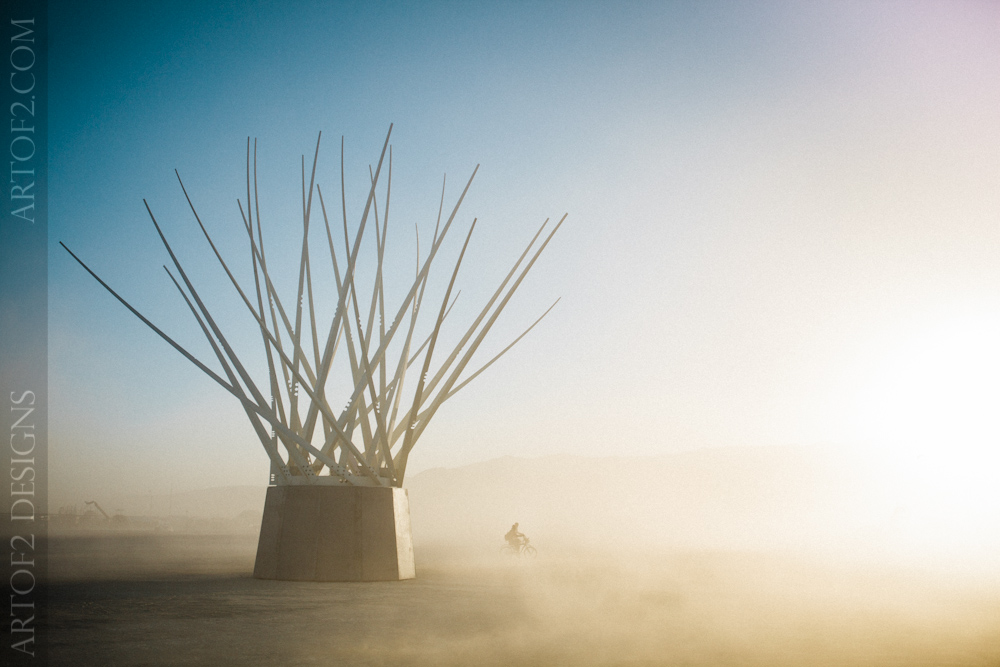 Spike sculpture at Burning Man
