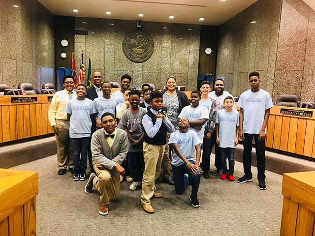 Our first field trip is in the books! A special thanks to @tamisawyer and @vdturner for speaking to my boys today about their roles in county government, social change and making Memphis a better place. #thedividendmem