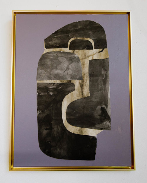 Deep Purple Series 1 18 X 24 With Gold Floating Frame Valenti