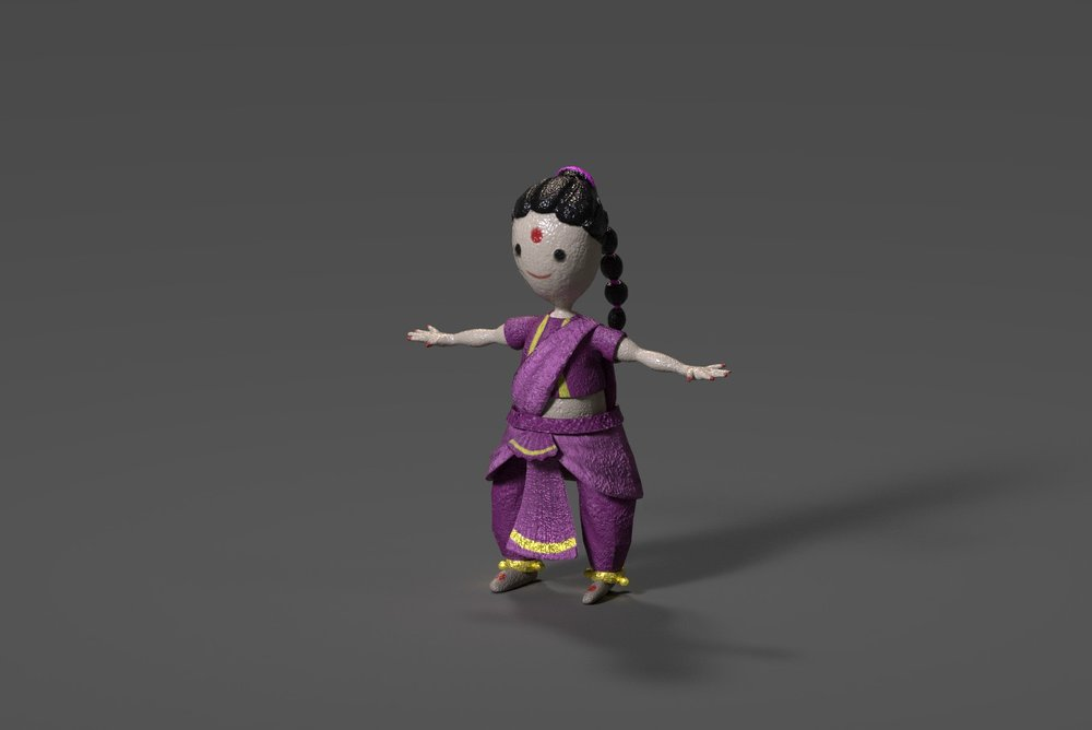Indian Doll-Paper mache material
