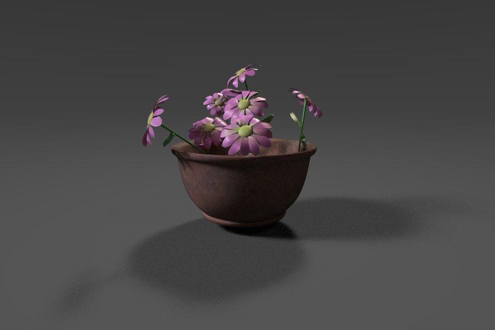 Plastic flower texture