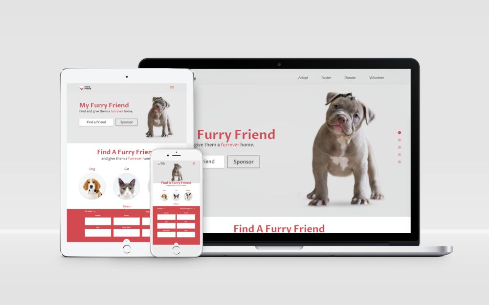 My Furry Friend - RWD pet adoption online-matcher.